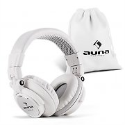 Auna Base DJ Headphones Closed Foldable - White