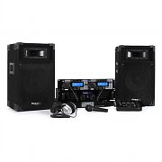 Ibiza DJ500-MKII DJ PA Sound System Dual CD Player Amp 3-Channel Mixer