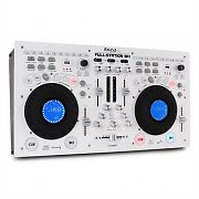 Ibiza Full-Station DJ Set Dual CD/MP3 Player Scratch Mixer USB SD White
