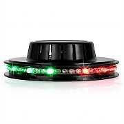 Ibiza LED UFO Party Light Effect RGB Black