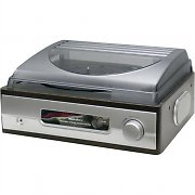 Karcher KA 8050 Vintage Record Player Turntable AUX Vinyl Mahogany