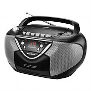 Karcher RR 5030 Portable CD Boombox Radio Cassette Recorder black