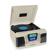 Ricatech RMC100 Music Center Turntable Stereo Cream CD MP3 SD USB FM