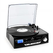 Auna TT-18BB Hi Fi Stereo Record Player USB AUX AM/FM Black