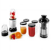 OneConcept Smoothy Stand Mixer 350W 18-pc Silver Black