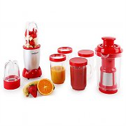 OneConcept Smoothy Stand Mixer 350W 18-pc Silver Red