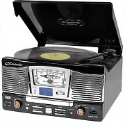 Trevi TT 1065 Retro Hifi Vinyl Stereo System CD SD USB Radio Black