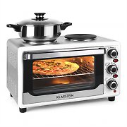 Klarstein Omnichef 23HW Mini Oven with Hot Plates 1500W 23L White