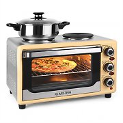 Klarstein Omnichef 23HW Mini Oven with Hot Plates 1500W 23L Cream
