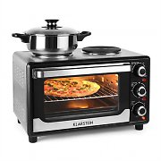 Klarstein Omnichef 23HB Mini Oven with Hot Plates 1500W 23L Black