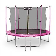 Klarfit Rocket Girl XXXL 13ft Trampoline Enclosed Safety Net Ladder Pink