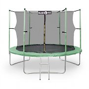 Klarfit Rocketstart XXL 10ft Trampoline with Enclosed Safety Net Green
