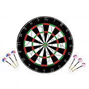 Klarfit Eagle Eye Dartboard 2 in 1 Steel Tip Darts & Hooks