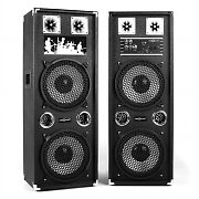 OneConcept BSX-210A Active Karaoke PA Speakers USB microSD AUX MIC 1200W Black