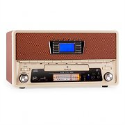 Auna NR-550-B Retro Stereo System Bluteooth USB SD MP3 CD AUX AM / FM