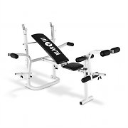 Klarfit HB3BC-W Multi-Gym Weight Bench Curl & Rack White