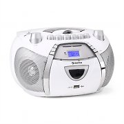 Auna Beeberry Radio Recorder CD MP3 USB White