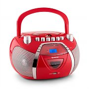 Auna BeeGirl Radio Recorder CD MP3 USB Red