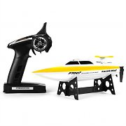 Takira Leviathan RC Racing Boat 30 km/h 2.4 GHz Remote - Yellow