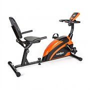 Klarfit Relaxbike 5G Recumbent Exercise Bike 100kg max. Orange Black