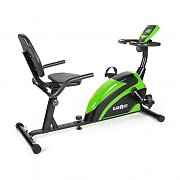 Klarfit Relaxbike 5G Recumbent Exercise Bike 100kg max. Green Black