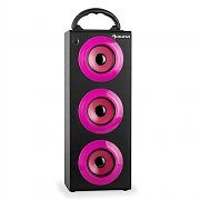 oneConcept Beachgirl XXL Bluetooth Speaker Pink USB SD AUX FM