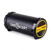 oneConcept Dr. Beat 2.1 Bluetooth Speaker USB SD AUX FM Battery Gold