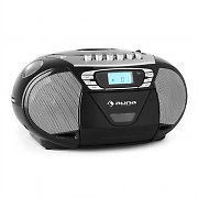 Auna KrissKross Portable Boombox Radio Recorder USB MP3 CD Black