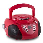 Inovalley R100 Portable Boombox CD Player USB SD AM FM MP3 Red