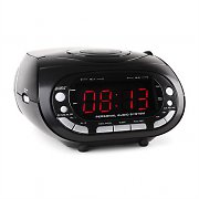 Majestic AH 1329 Radio Alarm Clock AM/FM PLL CD AUX Black