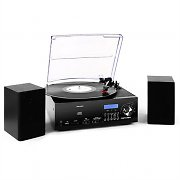 Majestic / Audiola TT38 Vinyl Stereo System LP CD USB SD MP3 FM Black