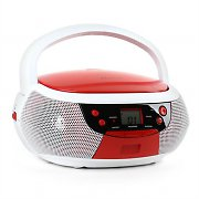 Majestic AH 0355AX Boombox CD AUX AM / FM White/Red