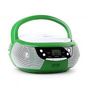 Majestic Audiola AH 0355AX Portable Boombox CD AUX AM/FM Green / White