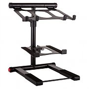 Ibiza SLAP 200 Dual DJ Laptop Stand Black