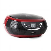 Trevi CMP 532 CD Player USB AM/FM Radio AUX Red