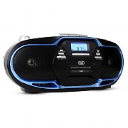 Trevi CMP-574 Boombox CD MP3 USB Cassette Recorder AM/FM Radio Blue