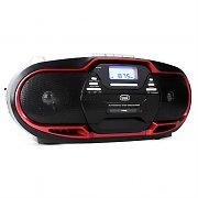 Trevi CMP-574 Boombox CD MP3 USB Cassette Player AM / FM Radio Red