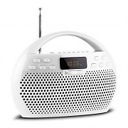 Trevi KB 308 BT Radio Digital Boombox Bluetooth USB microSD White