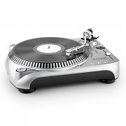 DJ-Tech Vinyl Encoder 10 v2 USB Turntable Direct MP3 Encoding Silver