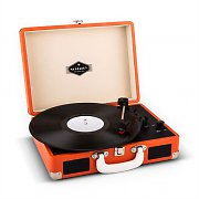 Auna Peggy Sue Retro Suitcase Turntable LP USB Orange