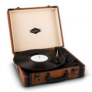 Auna Jerry Lee Retro Record Player Turntable LP USB Brown