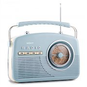 oneConcept NR-12 Retro 50s Portable Radio AM/FM Baby Blue