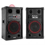 "Skytec SPB 10JB Powered 10"" Speaker Set with Light Effect Karaoke 2x 300W"