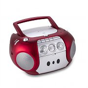 Soundmaster SCD5200RO Portable Boombox FM CD Cassette Battery Operation Red