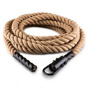 Klarfit Power Exercise Rope with Hook 9m 3.8cm Hemp Ceiling Mounting