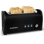 Klarstein Cambridge Double Long Slot Toaster 1400W Black