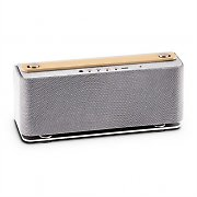Auna Sound Steel Bluetooth Speaker Brushed Aluminium Silver
