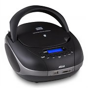 AKAI APRC55 CD Stereo Bluetooth SD USB FM Radio AUX black
