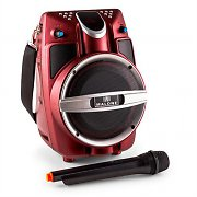Malone PSP 6AK-RD Red Portable Multimedia Speaker Bluetooth FM 30W VHF