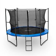 Klarfit Rocketboy 430 Trampoline 14ft Safety Net Inside, Wide Ladder - Blue